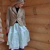 Одежда ручной работы. Ярмарка Мастеров - ручная работа Юбка нежный цвет blue.. Handmade.