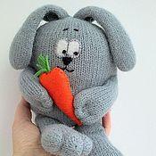 Куклы и игрушки ручной работы. Ярмарка Мастеров - ручная работа Зайка с морковкой.. Handmade.