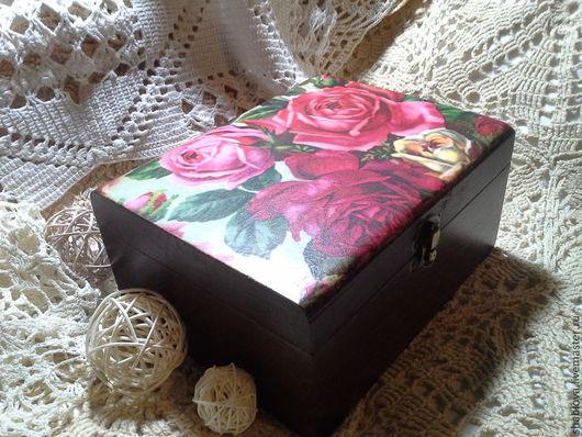"""Шкатулки ручной работы. Ярмарка Мастеров - ручная работа. Купить Шкатулка """"Розы"""". Handmade. Розы, шкатулка, подарок, дерево"""
