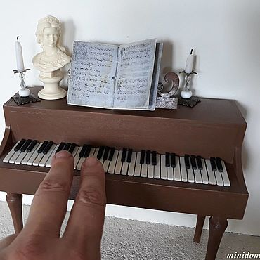 Dolls & toys handmade. Livemaster - original item Harpsichord piano doll furniture miniature 1 to 6. Handmade.