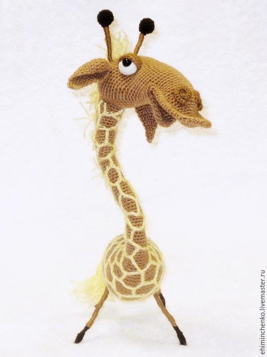 Игрушки животные, ручной работы. Ярмарка Мастеров - ручная работа. Купить Вязаная интерьерная игрушка Жираф. Handmade. Светло-коричневый