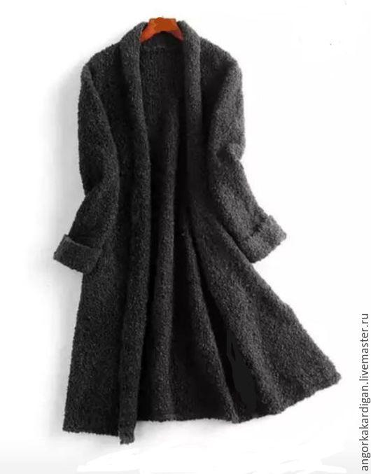 Кофты и свитера ручной работы. Ярмарка Мастеров - ручная работа. Купить Кардиган-букле меринос шерсть. Handmade. Темно-серый