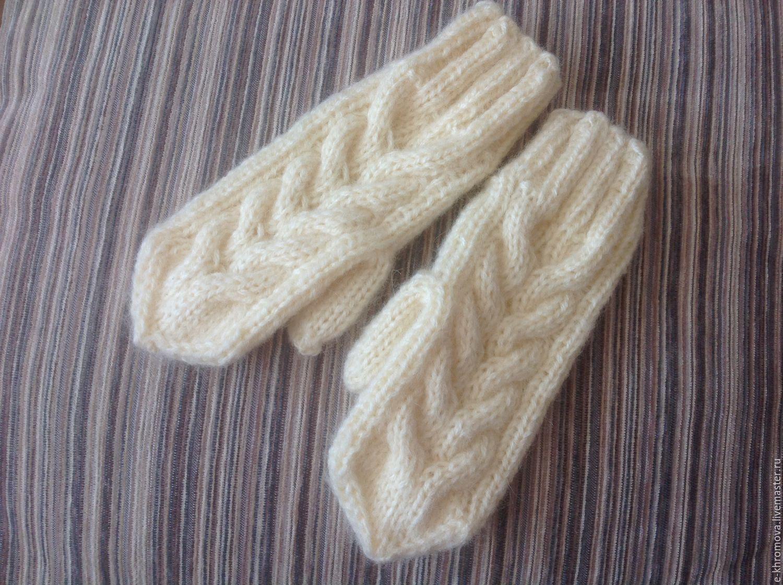рукавицы вязаные схемы косами
