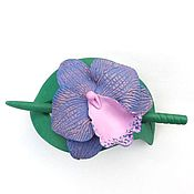 Украшения handmade. Livemaster - original item Barrette Tropics (Orchid, brooch, hair pin shawl). Handmade.