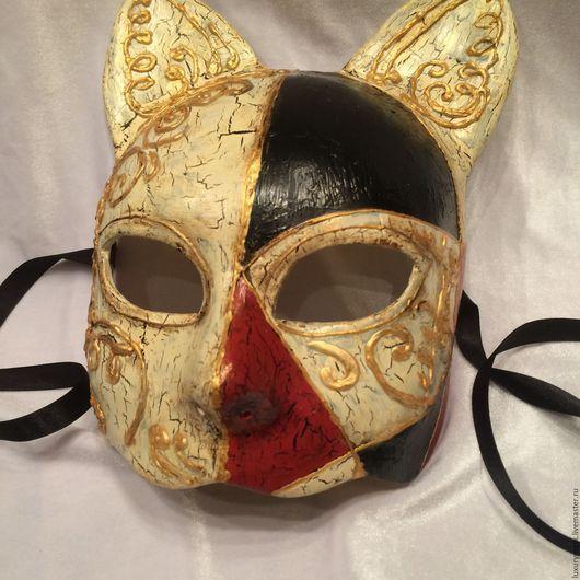 Карнавальные костюмы ручной работы. Ярмарка Мастеров - ручная работа. Купить Венецианская карнавальная маска Кот (Gatto). Handmade. Золотой