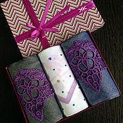 Аксессуары ручной работы. Ярмарка Мастеров - ручная работа Носовой платок женский  кружево  вышивка Набор. Handmade.