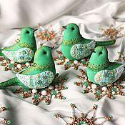 Подарки к праздникам ручной работы. Ярмарка Мастеров - ручная работа Мятный набор игрушек на елку.. Handmade.