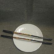 Русский стиль ручной работы. Ярмарка Мастеров - ручная работа Палочки для суши Хохлома. Handmade.