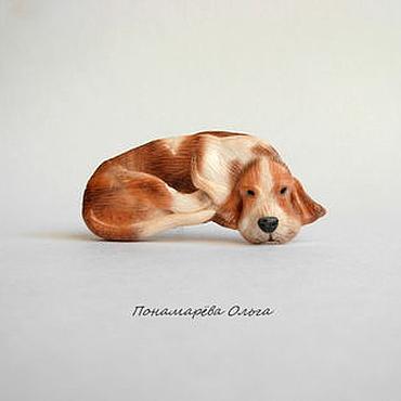 Украшения ручной работы. Ярмарка Мастеров - ручная работа Брошь собака. По фотографии. Handmade.