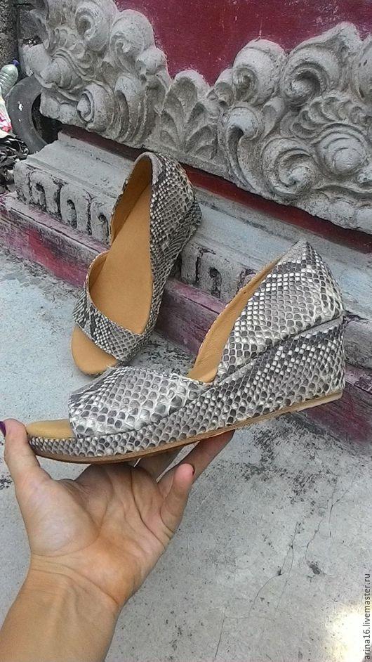Обувь ручной работы. Ярмарка Мастеров - ручная работа. Купить Летние туфли. Handmade. Бежевый, туфли женские