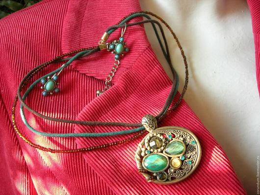 """Винтажные украшения. Ярмарка Мастеров - ручная работа. Купить Винтажный комплект """" Nina Ricci """"1950-е США. Handmade."""