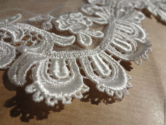 Шитье ручной работы. Ярмарка Мастеров - ручная работа. Купить Итальянская ткань Белое кружево Невеста. Handmade. Белый