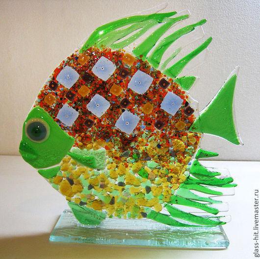 Рыбка на подставке 3. Стекло. Фьюзинг.