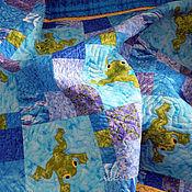 Для дома и интерьера ручной работы. Ярмарка Мастеров - ручная работа детское лоскутное одеяло   ЛЯГУШАТА   лоскутное одеяло детское. Handmade.