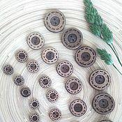 Материалы для творчества ручной работы. Ярмарка Мастеров - ручная работа Пуговицы кокосовые ободок с рантиком 10мм 13мм 18мм 23мм. Handmade.