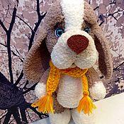 Куклы и игрушки ручной работы. Ярмарка Мастеров - ручная работа Собака вязаная. Handmade.