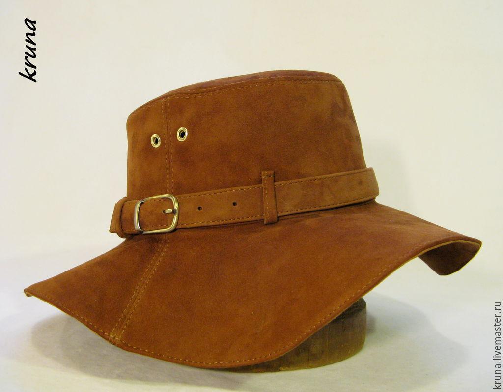 9cf7eb013c42 Шляпа женская из натуральной замши – купить в интернет-магазине на ...