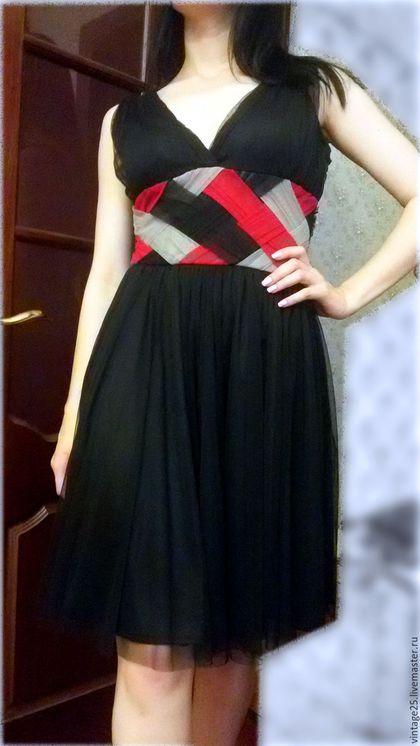 Одежда. Ярмарка Мастеров - ручная работа. Купить Винтажное платье (маленькое черное платье) НОВОЕ. Handmade. Черный, винтажное платье