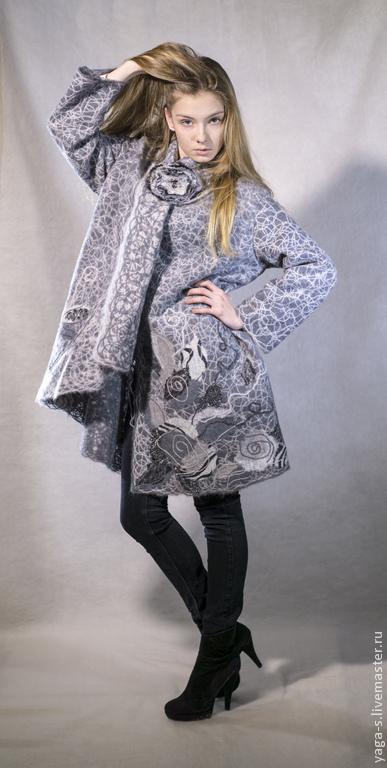 Верхняя одежда ручной работы. Ярмарка Мастеров - ручная работа. Купить Яга пальто свингер «Классика». Handmade. Серый