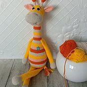 """Мягкие игрушки ручной работы. Ярмарка Мастеров - ручная работа Жираф """"Рыжик"""". Handmade."""