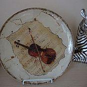 """Посуда ручной работы. Ярмарка Мастеров - ручная работа декоративная тарелка """" первая скрипка"""". Handmade."""