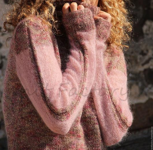 """Кофты и свитера ручной работы. Ярмарка Мастеров - ручная работа. Купить Свитер""""Shine"""". Handmade. Бледно-розовый, джемпер вязаный, суперкидмохер"""