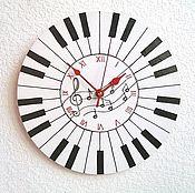 Для дома и интерьера handmade. Livemaster - original item Piano wall clock, clock, handmade. Handmade.