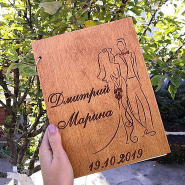 Для дома и интерьера ручной работы. Ярмарка Мастеров - ручная работа Фотоальбомы: Фотоальбом из дерева. Handmade.