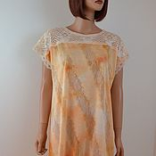 Одежда handmade. Livemaster - original item Dress made of fine knitwear with lace