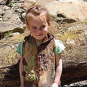 """Одежда ручной работы. Ярмарка Мастеров - ручная работа Детский валяный жилетик """"Майя"""". Handmade."""