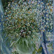 Картины и панно handmade. Livemaster - original item OIL PAINTING . Sunny Daisies.,canvas. Handmade.