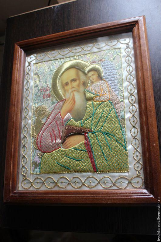 """Иконы ручной работы. Ярмарка Мастеров - ручная работа. Купить Вышитая Икона """"Иоанн Богослов"""". Handmade. Комбинированный, ручная вышивка"""