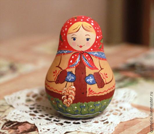 Народные куклы ручной работы. Ярмарка Мастеров - ручная работа. Купить Неваляшка музыкальная. Handmade. Разноцветный, неваляшка музыкальная, роспись