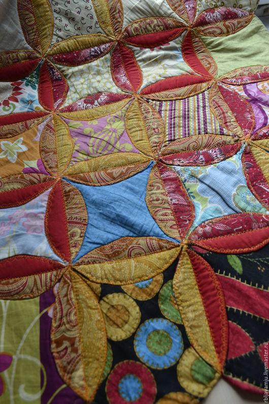"""Текстиль, ковры ручной работы. Ярмарка Мастеров - ручная работа. Купить Пэчворк Коврик """"Клумба"""". Handmade. Комбинированный, клумба"""