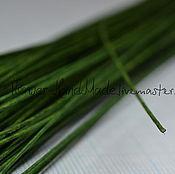 Проволоки ручной работы. Ярмарка Мастеров - ручная работа Проволока №22 тёмно-зеленая в обмотке 35 см, 50 шт. Handmade.