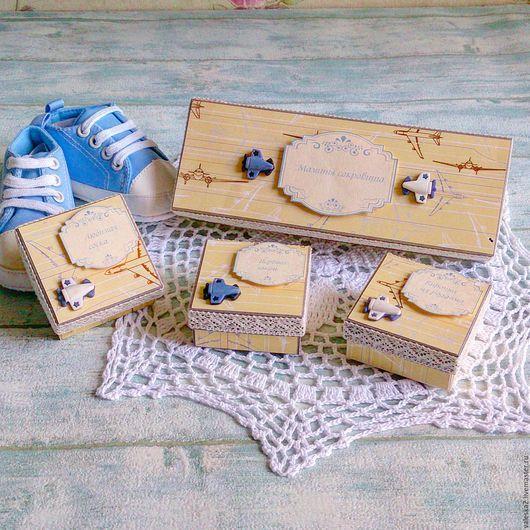 """Подарки для новорожденных, ручной работы. Ярмарка Мастеров - ручная работа. Купить Мамины сокровища """"Первым делом самолёты... """". Handmade."""