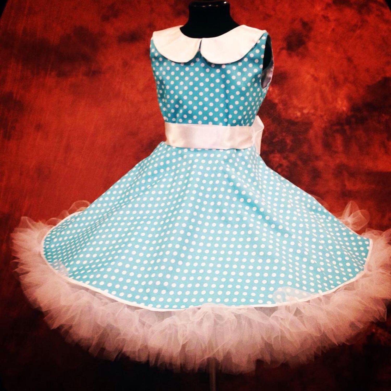 Платье стиляги бирюза