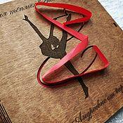 """Фотоальбомы ручной работы. Ярмарка Мастеров - ручная работа Фотоальбом с деревянной обложкой """"спорт"""". Handmade."""