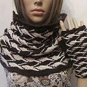 Аксессуары handmade. Livemaster - original item Set - Snood and mitts, half-hair. Handmade.