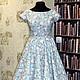 """Платья ручной работы. Ярмарка Мастеров - ручная работа. Купить Платье в ретро стиле """"Небесное притяжение 3"""". Handmade."""