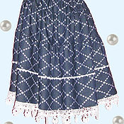 Одежда handmade. Livemaster - original item Tiered skirt lush