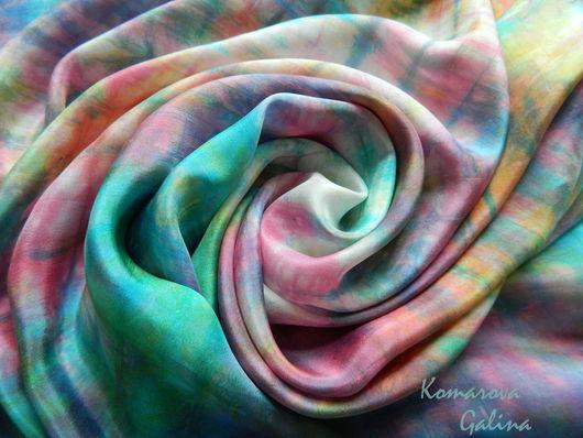 """Шарфы и шарфики ручной работы. Ярмарка Мастеров - ручная работа. Купить шелковый шарф """"Предчувствие весны"""". Handmade. Разноцветный"""