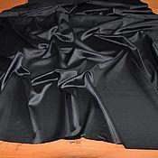 Ткани ручной работы. Ярмарка Мастеров - ручная работа Остаток, Искусственный шелк, цвет черный, Италия. Handmade.
