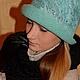 """Шляпы ручной работы. Ярмарка Мастеров - ручная работа. Купить Шляпка-клош """"Индийская бирюза"""". Handmade. Валяная шляпка, нунофелтинг"""