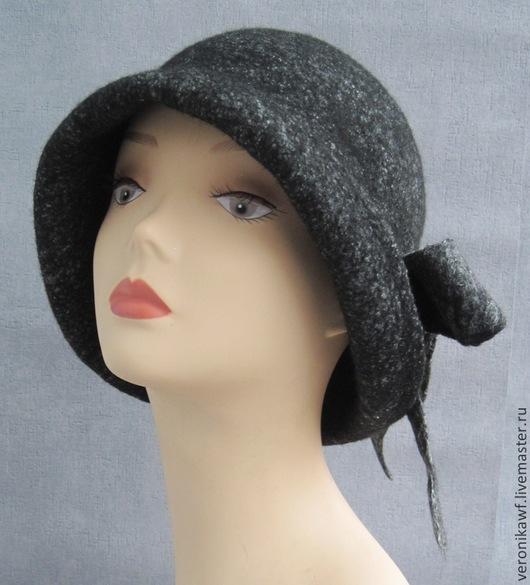 """Шляпы ручной работы. Ярмарка Мастеров - ручная работа. Купить Шляпа валяная  клош """"Black Magic"""". Handmade. Черный, клош"""
