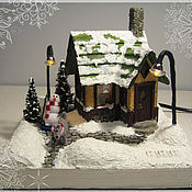 """Для дома и интерьера ручной работы. Ярмарка Мастеров - ручная работа Ночник  """"Снежный домик"""". Handmade."""