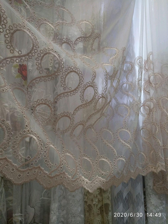 Акция Тюль сетка с вышивкой  весь  Тюль, что на фото, 300 см, Занавески, Можайск,  Фото №1