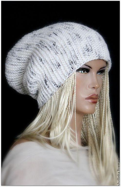 """Шапки ручной работы. Ярмарка Мастеров - ручная работа. Купить """"Снежный барс"""" шапка вязаная. Handmade. Чёрно-белый"""