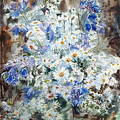 Картины и панно handmade. Livemaster - original item Painting watercolour wild flowers After the rain Bouquet of flowers. Handmade.