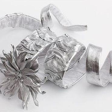Аксессуары ручной работы. Ярмарка Мастеров - ручная работа Пояс из серебряной кожи. Handmade.